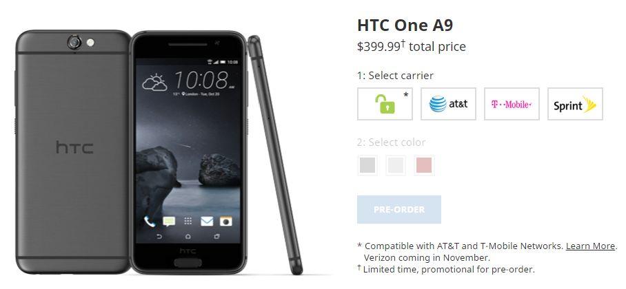 HTC-One-A9予約