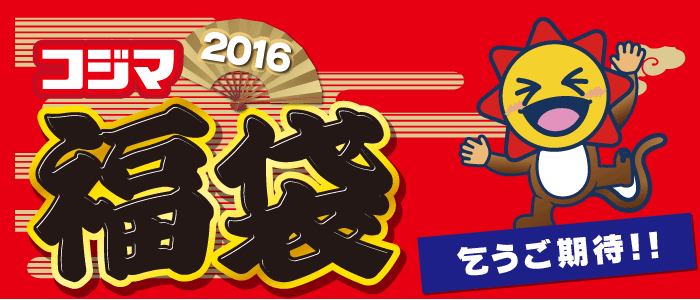 コジマ福袋店頭2016