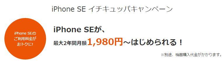 iPhone SE au版が1980円~!イチキュッパキャンペーンの注意点は?