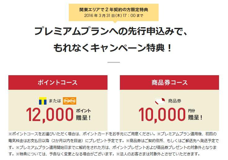 東京電力_プレミアムプランキャンペーン