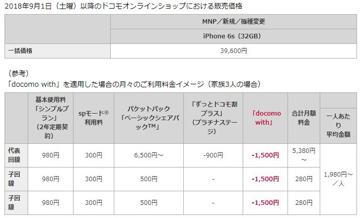 iphone 6s docomo with_2