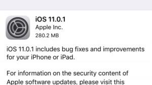 iOS11.0.1の不具合・評価は?バッテリー異常消費、アプリの起動不可、メール送信不具合等を修正【Apple】格安SIMの対応状況もアリ
