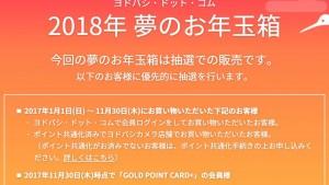ヨドバシカメラ福袋2018 夢のお年玉箱 ネタバレ・中身・感想速報!【ヨドバシドットコム版】更新中
